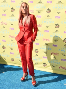 LOS ANGELES, CA - AUGUST 16:  Rita Ora arrives at the Teen Choice Awards 2015 at Galen Center on August 16, 2015 in Los Angeles, California.  (Photo by Steve Granitz/WireImage)